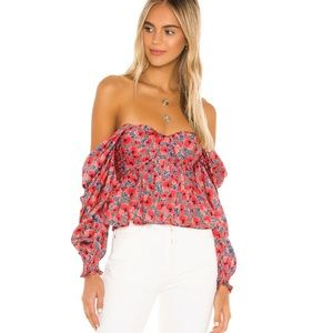 House of Harlow 1960 Revolve Burna Floral Blouse
